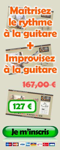 Maîtrisez le rythme à la guitare + Improvisez à la guitare