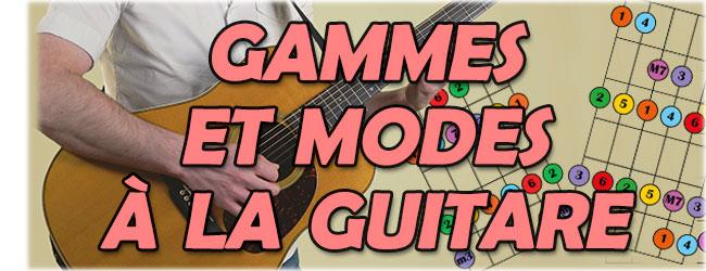 Gammes et modes à la guitare