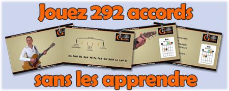 Jouez 292 accords de plus sans les apprendre