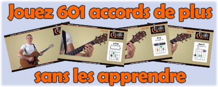 Jouez 601 accords de plus sans les apprendre
