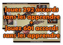 Jouez 292 accords sans les apprendre + Jouez 601 accords de plus sans les apprendre