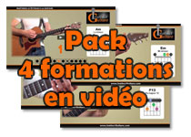 Pack 4 formations Instinct Guitare