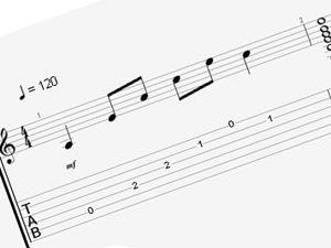 Comment lire une tablature pour guitare ?