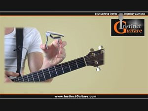 Où placer le capodastre sur le manche de la guitare ?