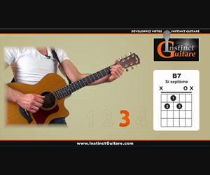 Riff de blues en Mi joué en arpèges à la guitare