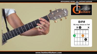 Les accords renversés à la guitare