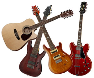 Les guitares bizarres : 12 cordes, 7 ou 8 cordes, barytons