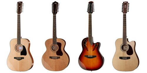 Guitares acoustiques à 12 cordes