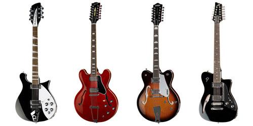 Guitares électriques à 12 cordes