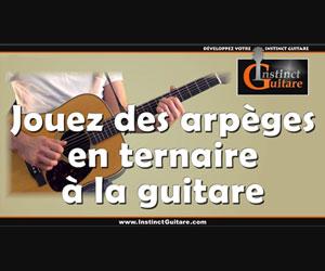 Jouez des arpèges ternaires à la guitare