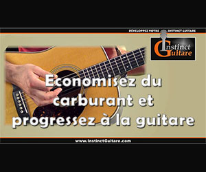 Economisez du carburant et progressez à la guitare