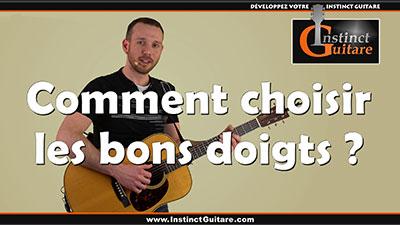 Comment choisir les bons doigtés à la guitare ?