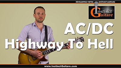 Highway To Hell (AC/DC) à la guitare – Riffs et rythmiques