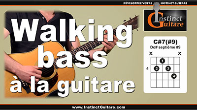 Walking bass et accords à la guitare