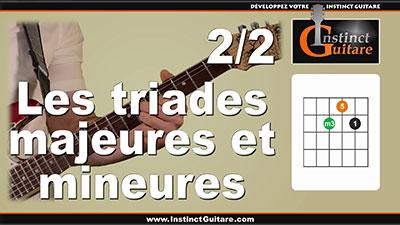 Les triades majeures et mineures à la guitare – 2/2