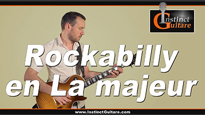 Jouez un morceau Rockabilly en La majeur