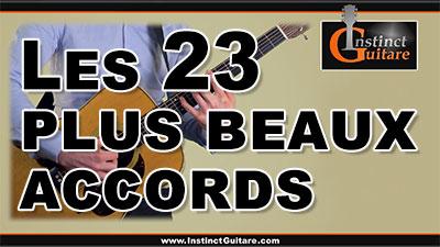 Les 23 plus beaux accords à la guitare