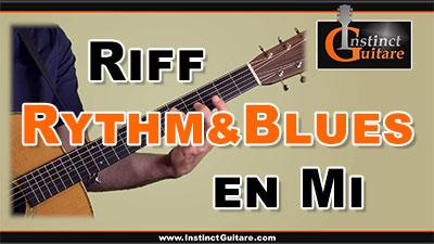 Riff rythm&blues en Mi à la guitare