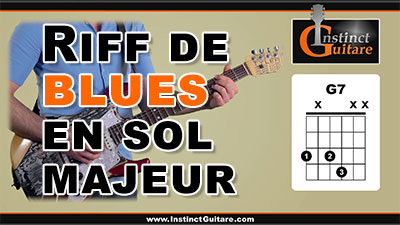 Riff de blues en Sol majeur