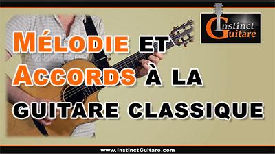 Mélodie et accords à la guitare classique