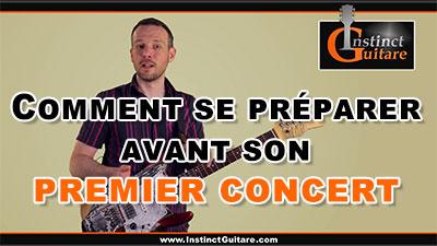 Comment se préparer avant son premier concert ?
