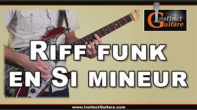 Riff funk en Si mineur à la guitare