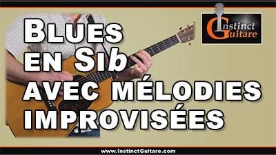 Blues en Sib avec phrases mélodiques improvisées