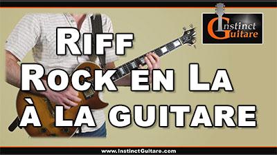 Riff rock en La à la guitare