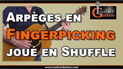 Arpèges en fingerpicking joués en shuffle