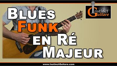 Blues funk en Ré majeur à la guitare