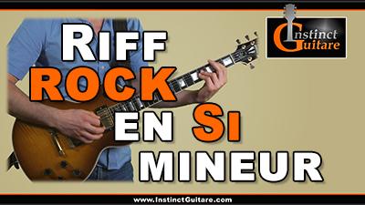 Riff rock en Si mineur à la guitare