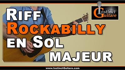 Riff rockabilly en Sol majeur à la guitare