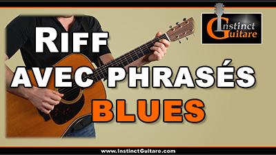 Riff avec phrasés blues à la guitare