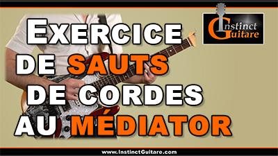 Exercice de sauts de cordes au médiator