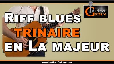 Riff blues trinaire en La majeur