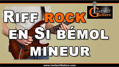 Riff rock en Si bémol mineur