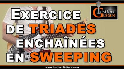 Exercice de triades enchaînées en sweeping