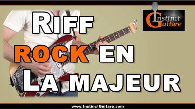 Riff rock en La majeur