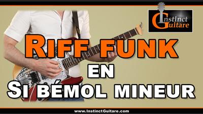 Riff funk en Si bémol mineur