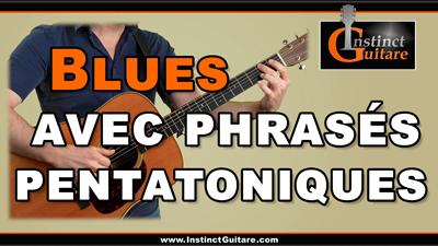 Blues en Sol avec phrasés pentatoniques