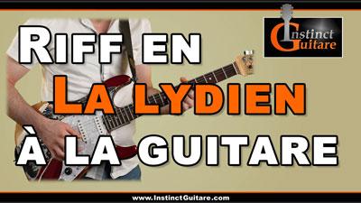 Riff en La lydien à la guitare