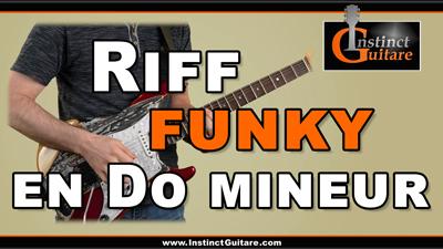 Riff funky en Do mineur
