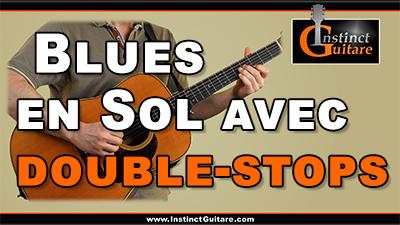 Blues en Sol avec double-stops