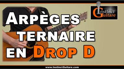 Arpèges ternaires en Drop D